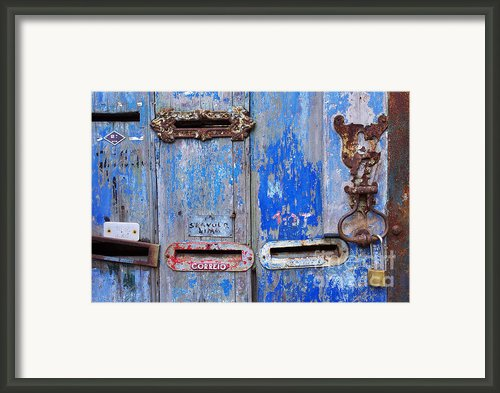 Old Mailboxes Framed Print By Carlos Caetano