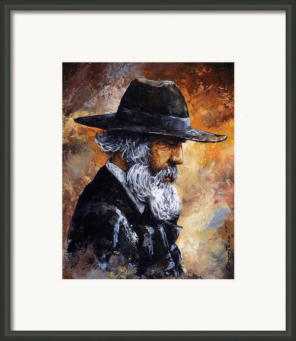 Old Man Framed Print By Emerico Imre Toth