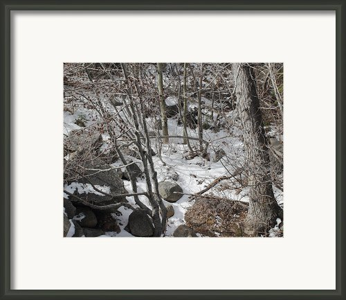 Old Man Winters Touch Framed Print By Lydia Warner Miller