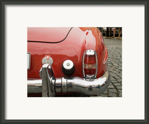 Old Mercede-benz Details Framed Print By Odon Czintos
