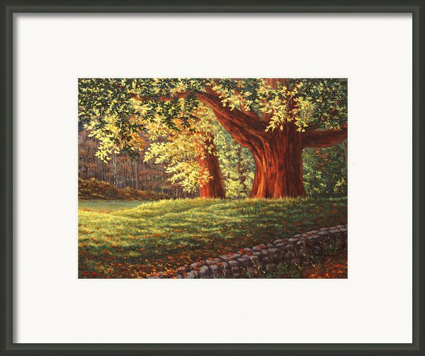 Old Neighbors Framed Print By Elaine Farmer