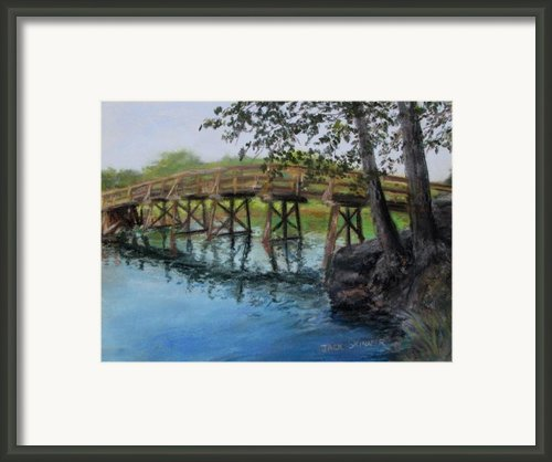 Old North Bridge In Pastel Framed Print By Jack Skinner