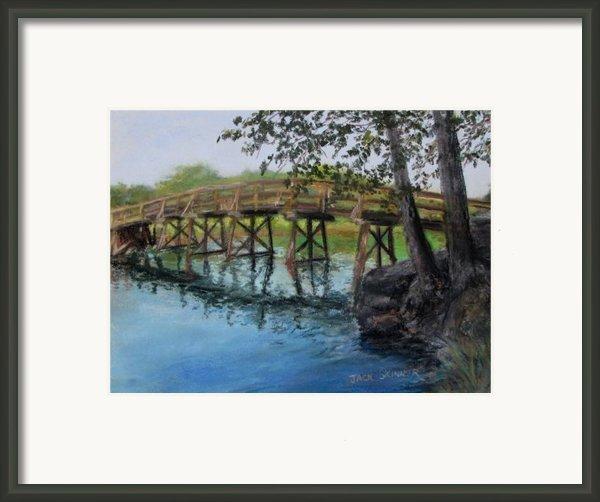 Old North Bridge In Pastel Framed Print By Jack Skinner