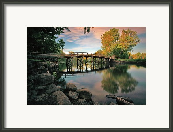 Old North Bridge Framed Print By Rick Berk