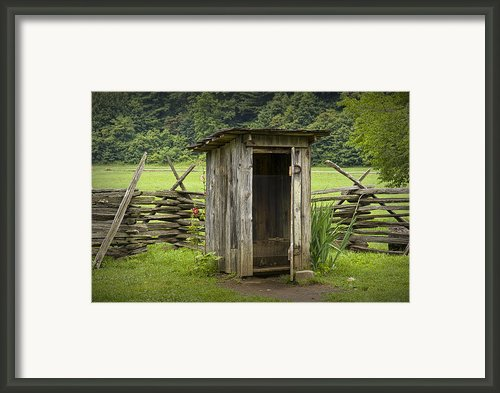 Old Outhouse On A Farm In The Smokey Mountains Framed Print By Randall Nyhof