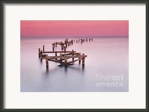 Old Pier At Swanage Framed Print By Richard Garvey-williams