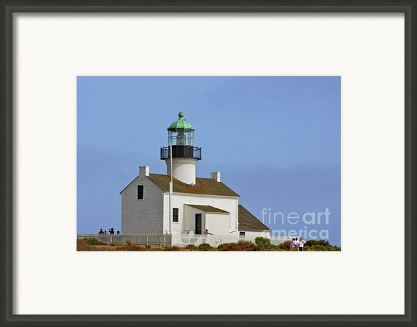 Old Point Loma Lighthouse San Diego California Framed Print By Christine Till