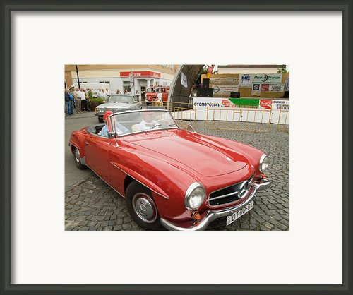 Old Red Mercedes-benz Framed Print By Odon Czintos