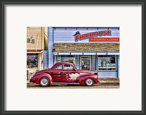 Old Roadster - Red Framed Print By Carol Leigh