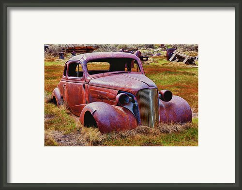Old Rusty Car Bodie Ghost Town Framed Print By Garry Gay