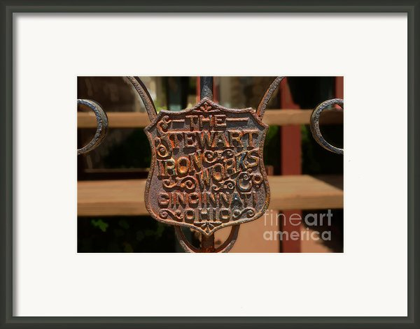 Old Rusty Gate Framed Print By Michael Flood