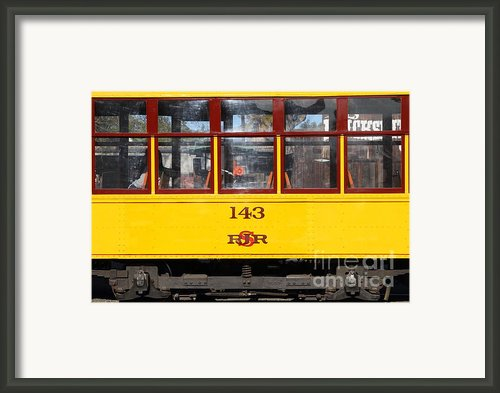 Old San Jose Railroads Cablecar Trolley 143 . San Jose California . 7d12959 Framed Print By Wingsdomain Art And Photography
