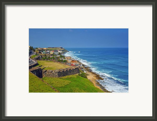 Old San Juan Coastline Framed Print By Stephen Anderson