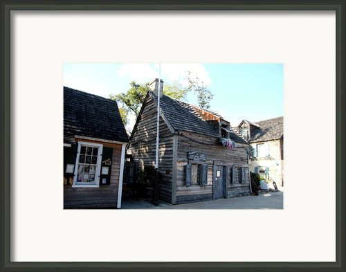 Old School House - St Augustine Framed Print By Christiane Schulze