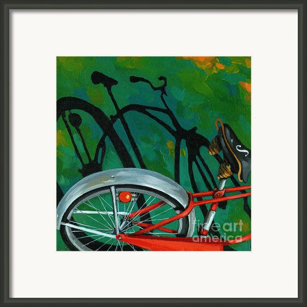Old Schwinn Framed Print By Linda Apple