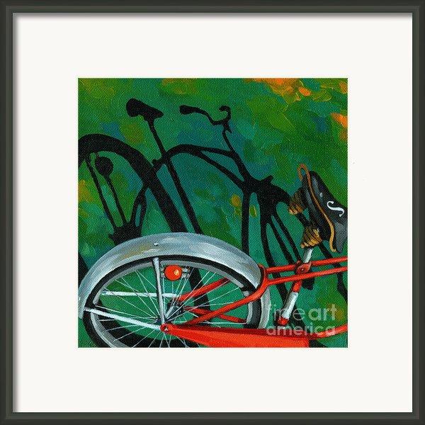 Old Schwinn Framed Print By Linda Apple