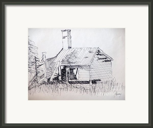 Old Shed Framed Print By Rod Ismay
