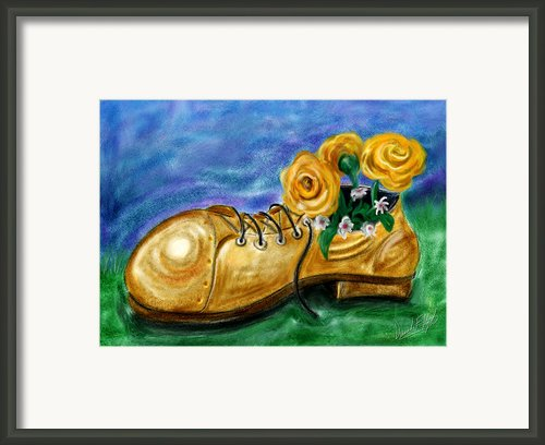 Old Shoe Planter Framed Print By David Kyte
