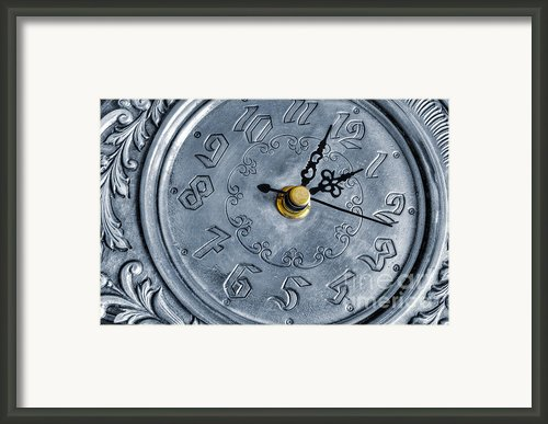 Old Silver Clock Framed Print By Carlos Caetano