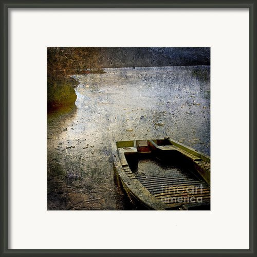 Old Sunken Boat. Framed Print By Bernard Jaubert