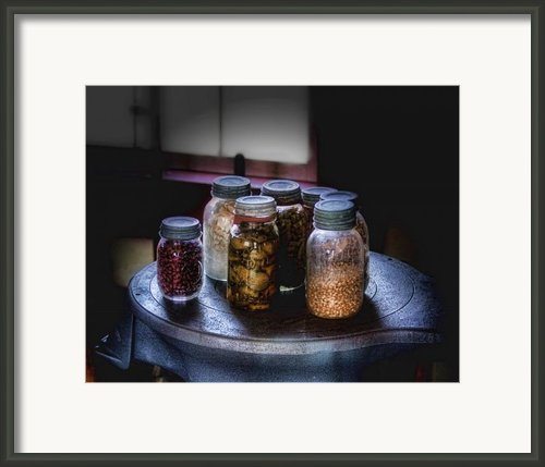 Old-time Canned Goods Framed Print By Tom Mc Nemar
