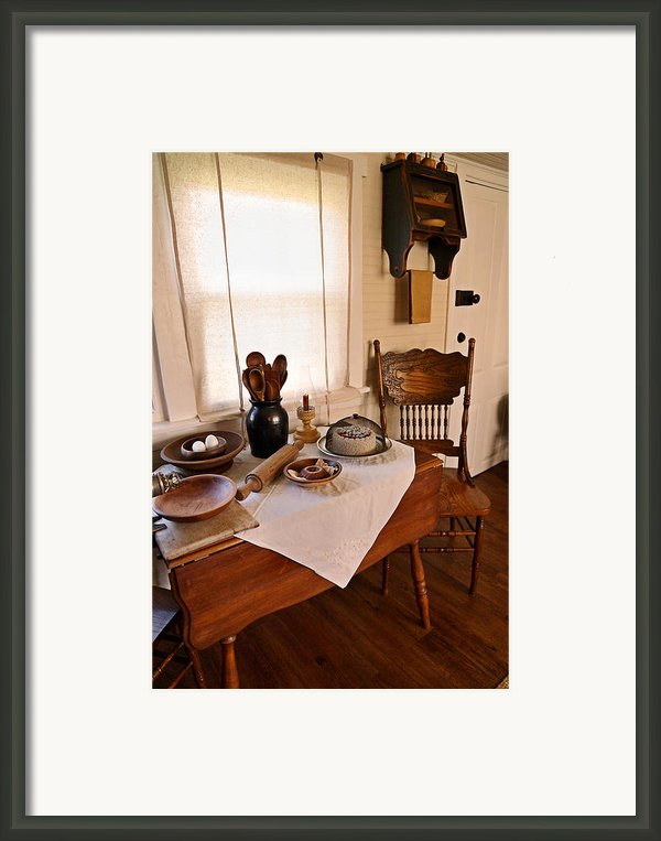 Old Time Kitchen Table Framed Print By Carmen Del Valle