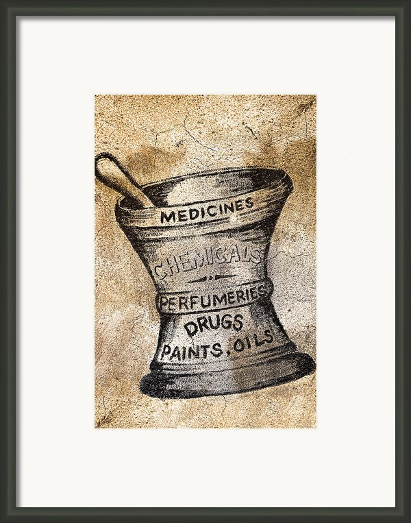 Old Time Medicine Ad Framed Print By Wendy White