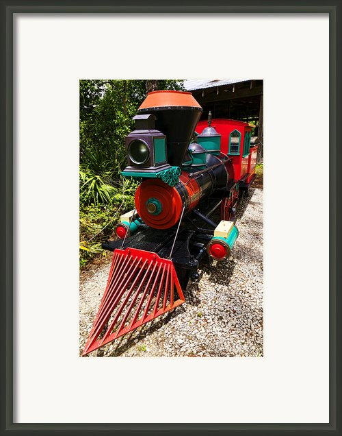 Old Time Train Framed Print By Garry Gay