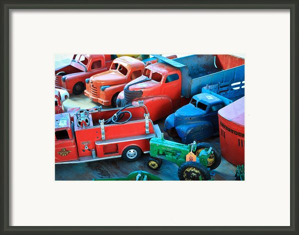 Old Tin Toys Framed Print By Steve Mckinzie