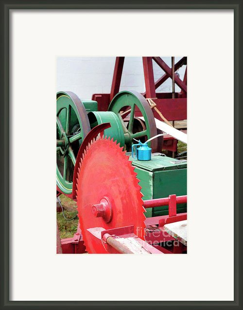 Old Tools In Primary Colors With Digital Effects Framed Print By William Kuta