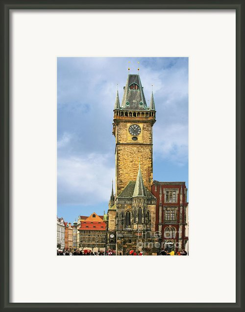 Old Town Hall Prague Cz Framed Print By Christine Till