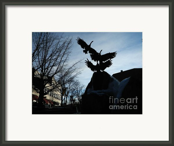 Old Town Silhouette  Framed Print By Sara  Mayer