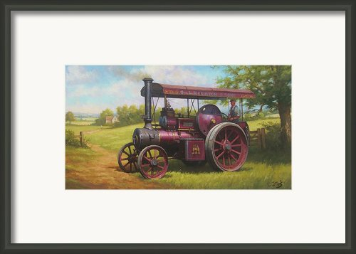 Old Traction Engine. Framed Print By Mike  Jeffries