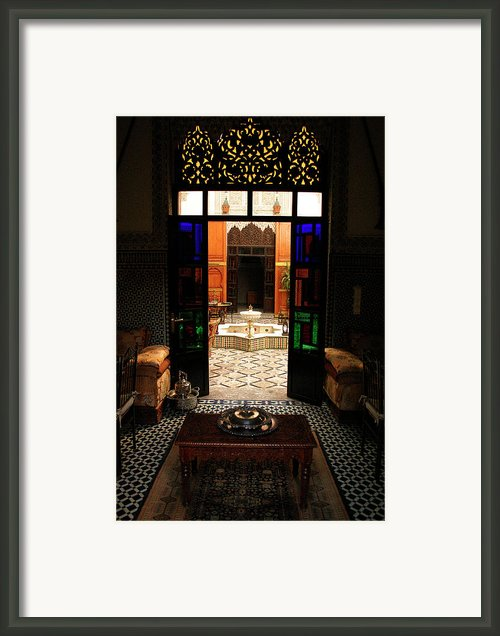 Old Traditional Riad In Fez Framed Print By Artphoto-ralph A  Ledergerber-photography