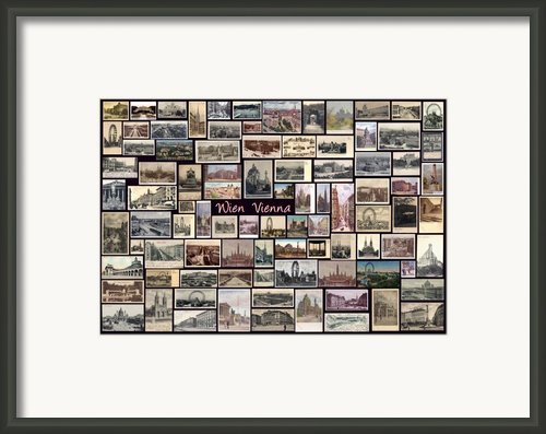 Old Vienna Collage Framed Print By Janos Kovac
