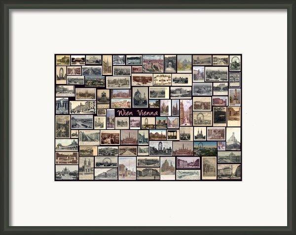 Old Vienna Collage Framed Print By Janos Kovac