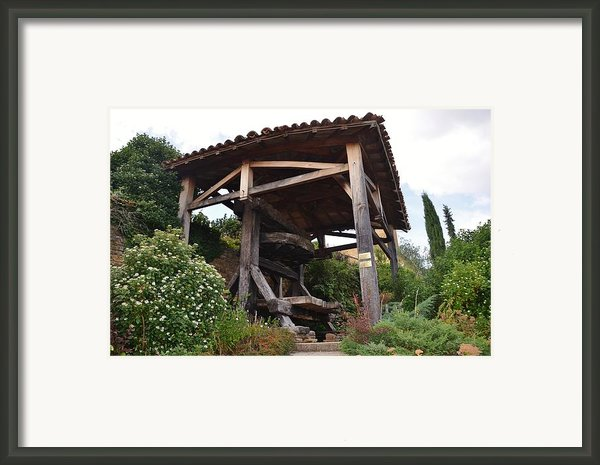Old Wine Press Framed Print By Dany  Lison
