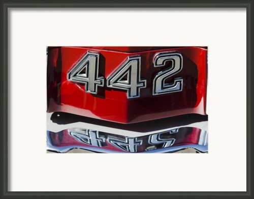 Oldsmobile 442 Muscle Car Emblem Framed Print By Jill Reger