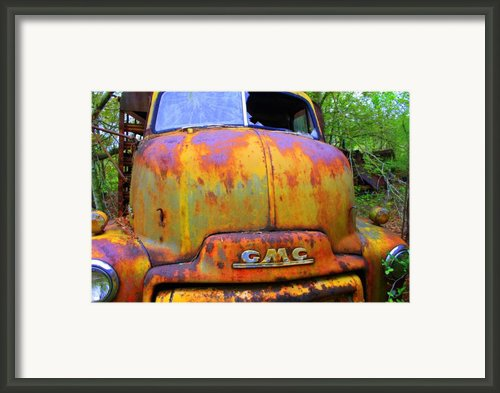 Ole Rusty Full Frontal Framed Print By Dana  Oliver