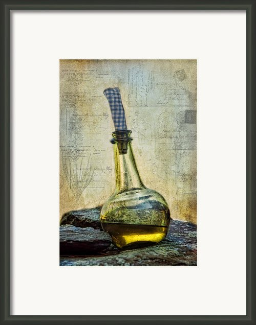 Olive Oil Framed Print By Robin-lee Vieira