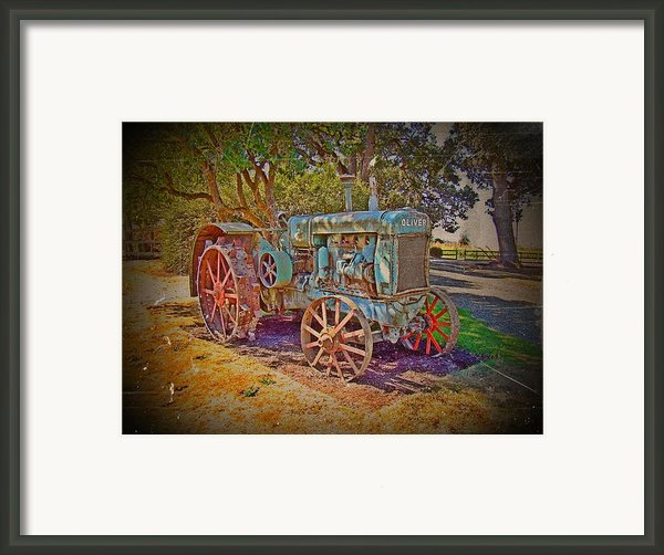 Oliver Tractor 2 Framed Print By Nick Kloepping