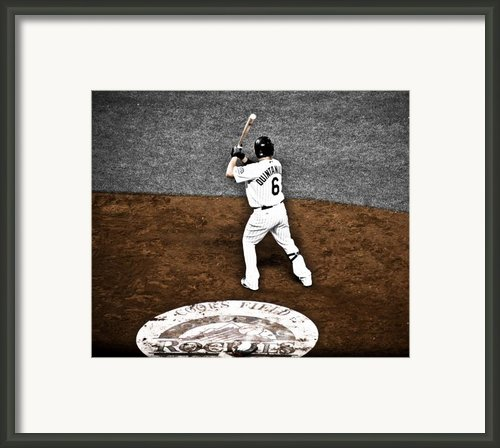 Omar Quintanilla Pro Baseball Player Framed Print By Marilyn Hunt