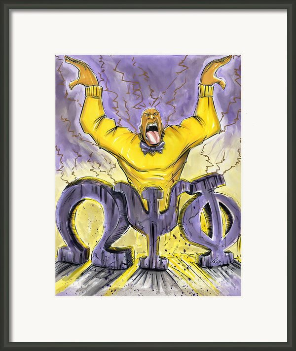 Omega Psi Phi Fraternity Inc Framed Print By Tu-kwon Thomas