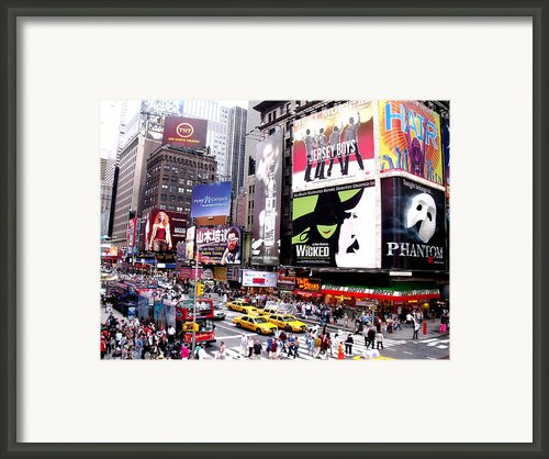 On Broadway New York Framed Print By Rosie Brown