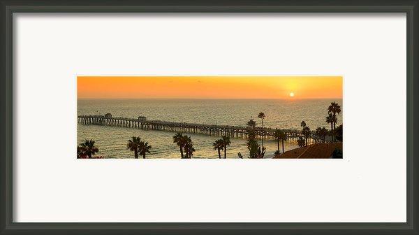 On Golden Pier Framed Print By Gary Zuercher