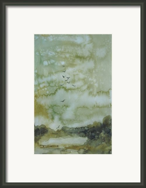 On Golden Pond Framed Print By Elizabeth Carr