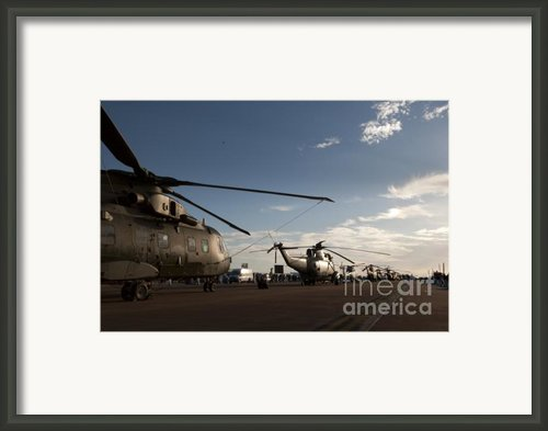 On The Airfield Framed Print By Angel  Tarantella