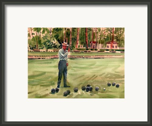 On The Bowling Green Framed Print By Donald Maier