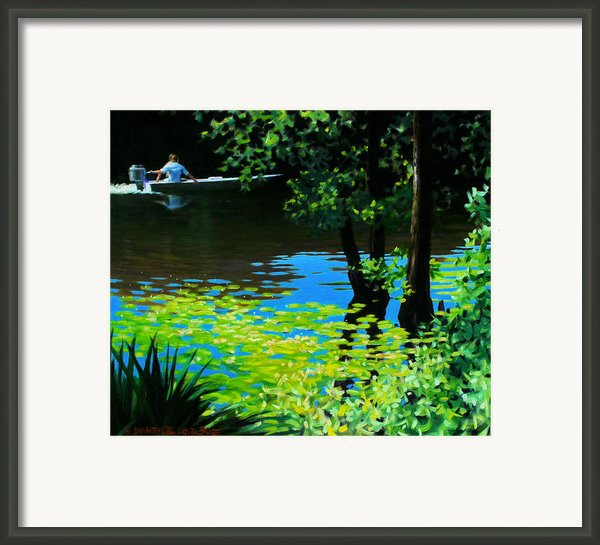 On The Calcasieu Framed Print By Kevin Lawrence Leveque