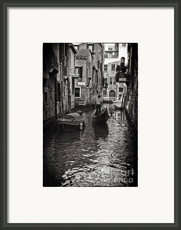 On The Canal - Venice Framed Print By Madeline Ellis